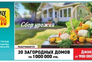 Билет 1351 тиража Русское лото